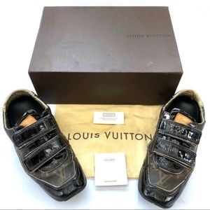 SOLD! Louis Vuitton Monogram Leather Suede Womens
